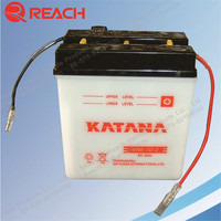 Hot Sell 6V 6Ah Dry Charged Lead Acid Motorcycle Battery Cheap Price
