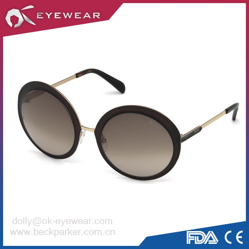 Womens Metal UV 400 ce sunglasses