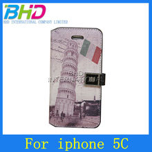 Newest style for iphone 5c flip cover