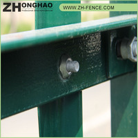 China Hottest Sale PVC coated wholesale euro steel palisade fence prices