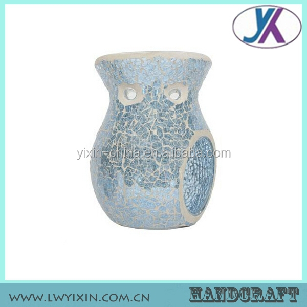 Colored home decor candle holder potpourri mosaic glass incense burner