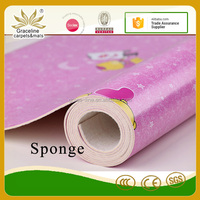 As decorative covered the floor sponge pvc roll flooring