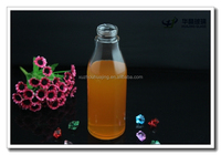 600ml mineral glass beverage bottle with screw cap for water wholesale