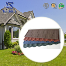 Natural slate crushed stone coated steel roof tile