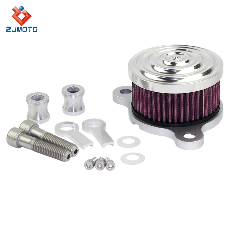 ZJMOTO high quality performance air filter silver motorcycle air cleaner filter
