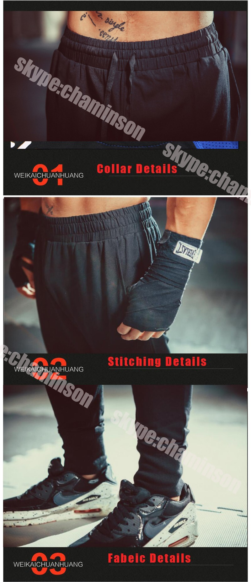 8 usd bottoms for running fitness pants men