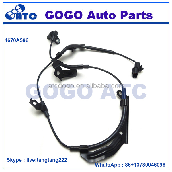 ABS WHEEL SPEED SENSOR <strong>FRONT</strong> RIGHT For MITSUBISHI <strong>L200</strong> TRITON MONTERO 2012 - UP OEM 4670A596