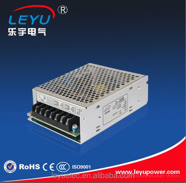 China high performance dual output 5V 24V 30w led driver