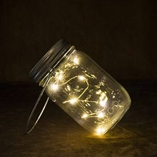 Furniture Decorative Led Christmas String Lights Mason Jar With Fireflies