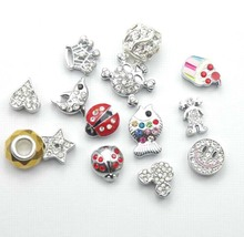 New Fashion Crystal Alloy Beads Jewelry Charms for Bracelet