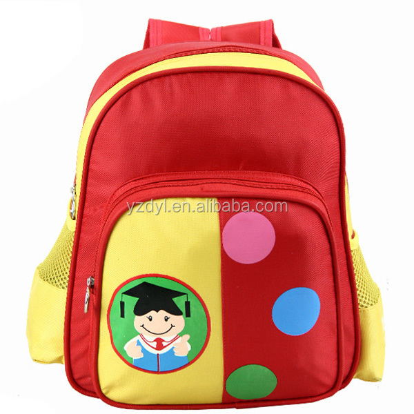 600D polyester kids cheap school bag for promotion