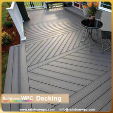 Aluminum decking designed for villas stairs,gazebo,terrace, swimming pool, price of composite decking wpc flooring