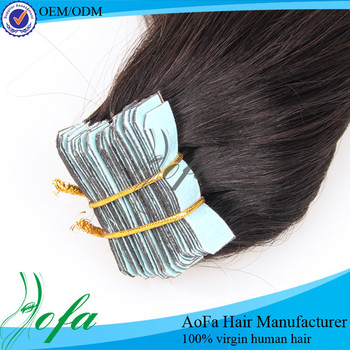 Wholesale tape hair extensions,double drawn tape hair extensions