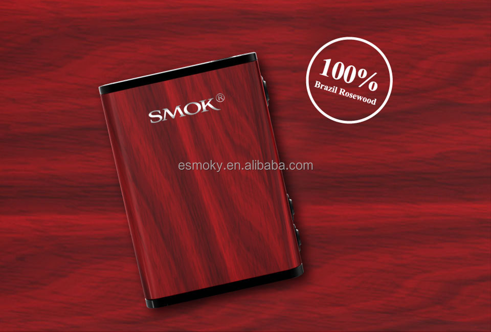 New Products Original Smok 220W brazil Rosewood Box Mod Huge Vapor Clouds Treebox Plus 220w with Smooth Surface
