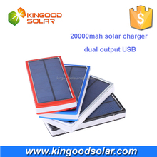 Authorized 20000MAH solar battery charger 2 USB port mobile phones accessories External Battery Charger