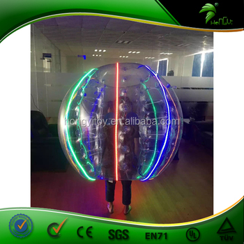 TPU LED Inflatable Hhuman Bubble Ball Inflatable Human Hamster Bal Soccer Bubble Football