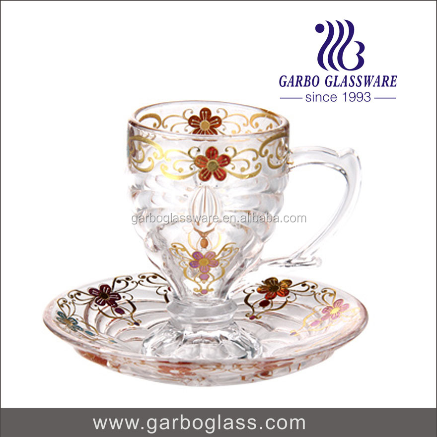 70ml Gorgeous Turkish , Arabic, Moroccan Tea Glass Cups and Saucer Set