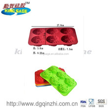 6 Cavity Mini Rose Silicone Cake Mold Pan ,Silicone Muffin Rose Cookie Cup Cake Baking Mold , Chocolate Jelly Maker Mould ,