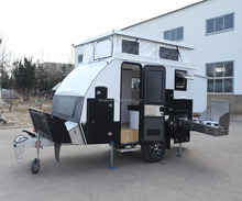 Travel trailer 12ft luxury Offroad camping caravan trailer with bunk bed