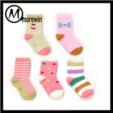 Morewin Custom Sock Lovely Heart Bowknot Dot Pattern Socks Cotton Fashion Baby Girl Sock