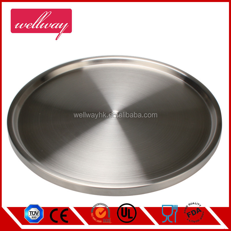 Round Stainless Steel Lazy Susan, Good for Holding Spice Jar & Serving Food