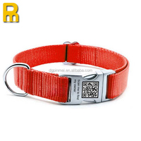Wholesale Ribbon Nylon Metal Buckle Pet Dog Collar