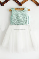 2015 fashion sequins baby girls vest lace layers dress high quality baby dress for 2-8 years girls