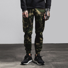 Wholesale Fashion Man Trousers Men Stylish Bellow Pocket Elastic Narrow Bottom Jogger Hip Hop Military Camo Casual Cargo Pants