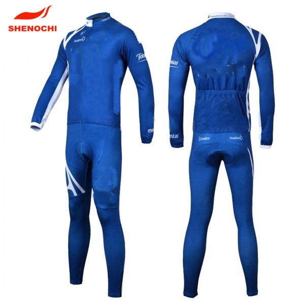 newest hot sale factory competitive price long sleeve cycling clothing jersey with pad