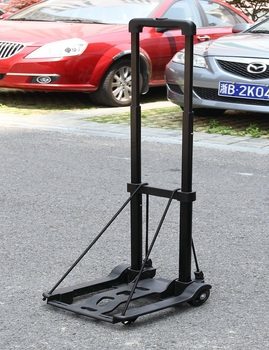 2018 plastic portable luggage cart for shopping