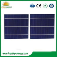 Big supplier 156mm 2BB polycrystalline solar cells, raw solar cells with low price