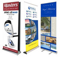 Advertising hanging mini luxury roll up banner/roll up stand