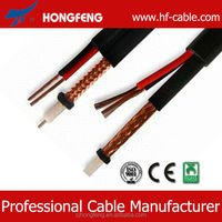 Low db Loss 64 web RG59 QUAD +2c coaxial cable for cctv