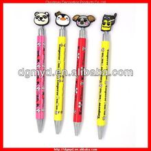 High quality colorful custom Ballpoint pen with PVC cartoon cap for Children (KMS-1040)