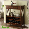 Antique Wine Cabinet Wood Rack Stopper with Drawer,Handmade Beverage Display,Liquor Display Showcase