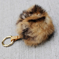 CX-R-49C Hot Sale Colored Rabbit Fur Custom Keychain Key Ring