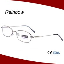 Round shape reading glasses vintage eyewear metal alloy glasses