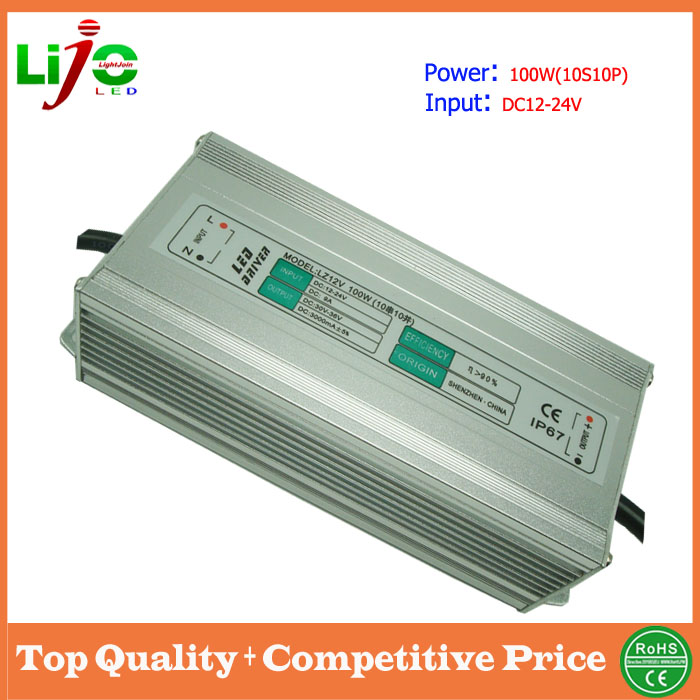 dc 3000ma water proof 100w 24v led driver