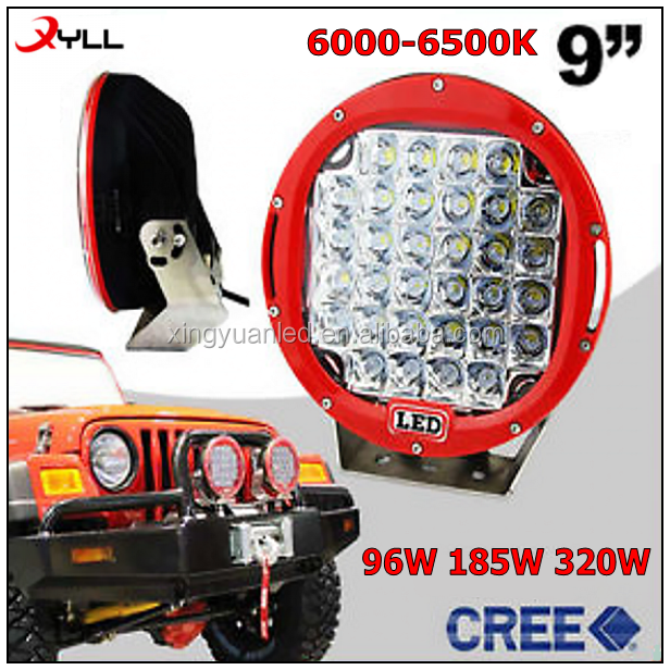 185 watt led driving head light 185w auto work light 9inch spot flood beam ledworking lights 320W
