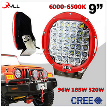 185W led driving head light 96W auto work light 320W spot flood beam 9inch led working light