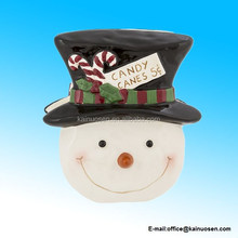 Ceramic Snowman Christmas Napkin Holder
