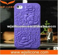 2012 3D Engraved Soft skin case for iphone4
