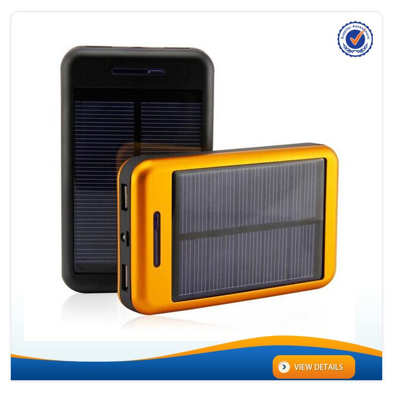 AWC028 LED Light Cheap Solar Mobile Phone Charger 6000mAh 18650 Solar Battery Charger