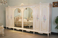 classic italian furniture - royalty handcraft solid wood wardrobe-luxury wooden bedroom furniture