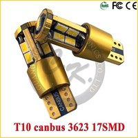 14K golden design 17smd 3623 T10 5W5 Canbus Car Led Auto Bulb
