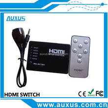 5 port hdmi switch 5*1 with remote control