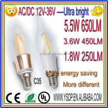 12v 24v high lumen 3w led candle e14