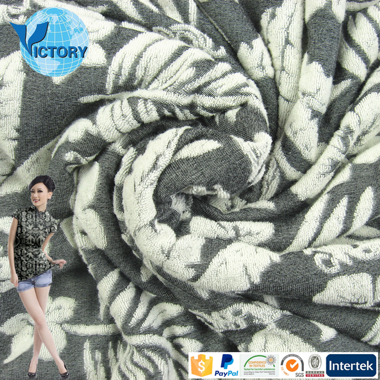 70% Cotton 30% Polyester Knitted Jacquard Fabric