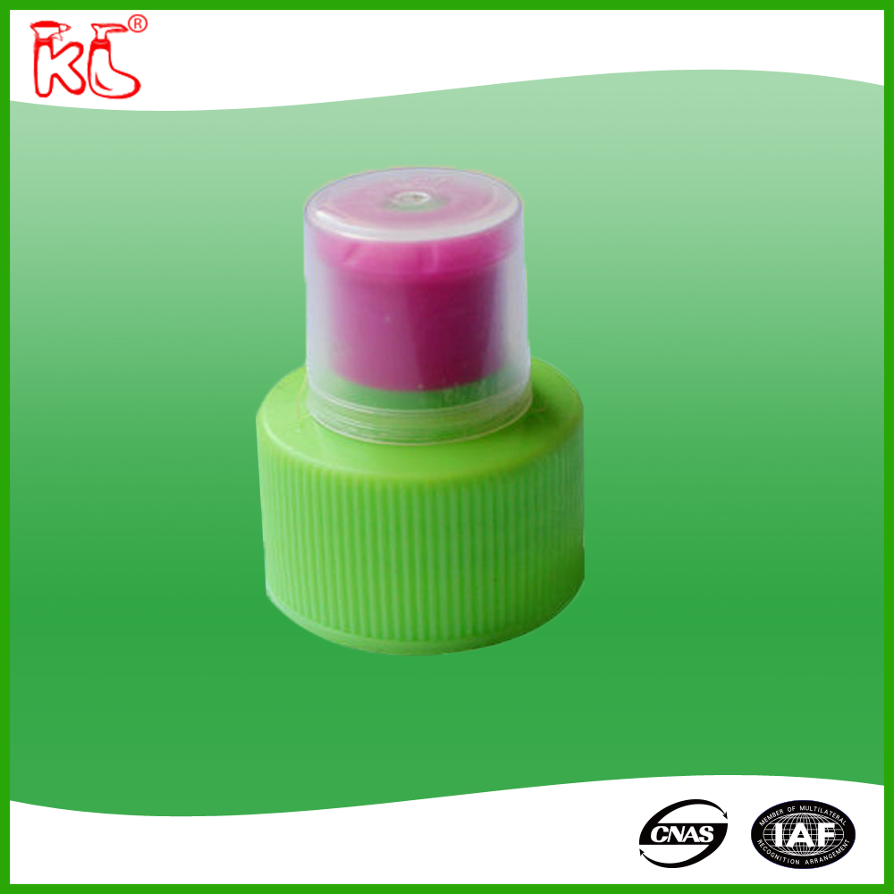 24mm 28mm Plastic water Bottle Push Pull cap PP sports water cap, colorful ribbed closure