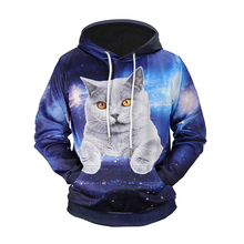 Wholesale Custom Quickly Dry Never Fade Space Cat Hoodie Guangzhou Clothing Supplier